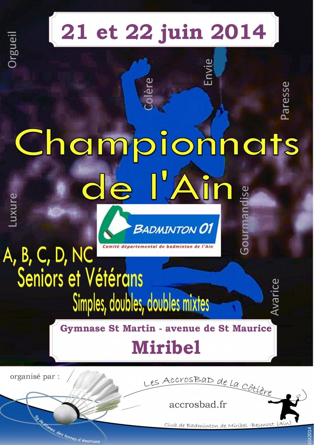 Affiche Championnat de l'Ain 2014