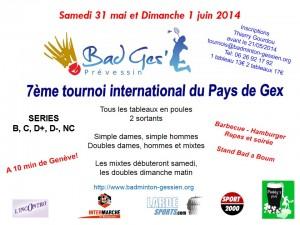 Affiche tournoi Prévessin 2014